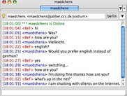 chatbot session with language switch