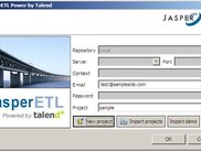 JasperETL login screen