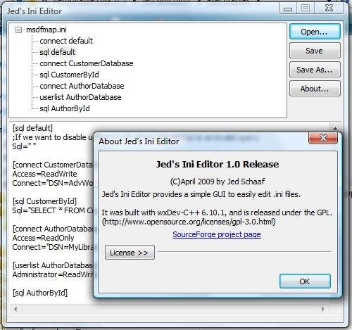 how to open ini file in windows 7