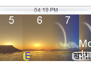 5 Hr View of Clock/Calendar