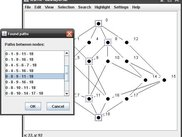 Searching paths between nodes