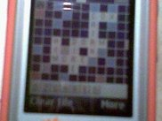 Playing Scrabble on a Sony Ericsson W550