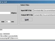 MP3 File Splitter