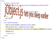 jObject'js lets you sleep earlier