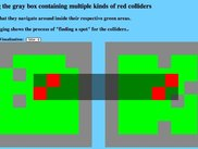 Multi-level objects can even interact simultaneously with different obstacles differently