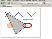 Sample shapes drawn using JSGL