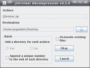 jShrinker Decompression GUI as of version 0.2.0