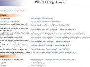 JSONER live examples page snapshot
