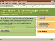 Blogger sample, showcasing JSP Controls Tag Library
