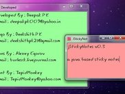 JStickyNotes v0.3 (on windows7)