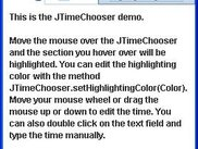 This is the JTimeChooser demo