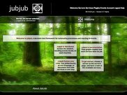 The Jubjubweb welcome Page.
