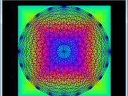Square color wave with mandala demo