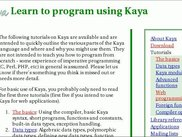 The Kaya website provides API references and tutorials