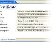 Showing certificate