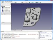 kicad 3D STEP model component side (view in freecad)