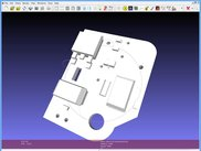 kicad 3D wrl model component side (view in meshlab)