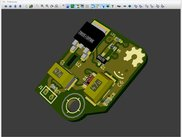 kicad 3D demo board component side