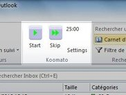 Koomato in outlook ribbon