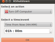 KShutdown 3.0 Beta (main window, GTK+ style)
