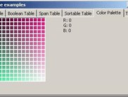 Table that serves as a simple color chooser.
