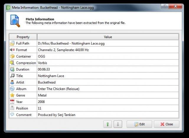 LameXP - Meta Information Dialog