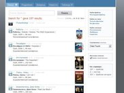 Russian web interface, showing the latest movies in the LAN.