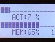 LCD Smartie displaying on a Crystalfontz 634 LCD.