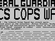 The player-run Liberal Guardian newspaper