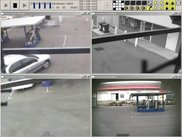 Sample screenshot of application plugged into 4 video camera