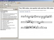 Music reading: interactive scores composed by program