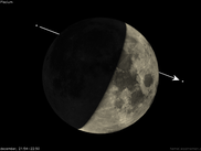 Occultation by the Moon, computed using libTheSky