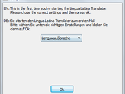 Sprachwahl / Chose the language (Latin -> English not supported, sorry)