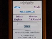 Littletux Networked Audio Player - On a PDA / Pocket PC