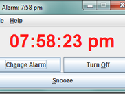 12 hour clock with alarm going off