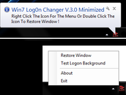 Minimize To Tray + Test Logon Applied Logon Screen Image Function[Ease Of Use] - New Function