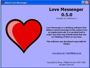 Love Messenger About box