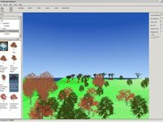 Terrain scene with vegetation 1