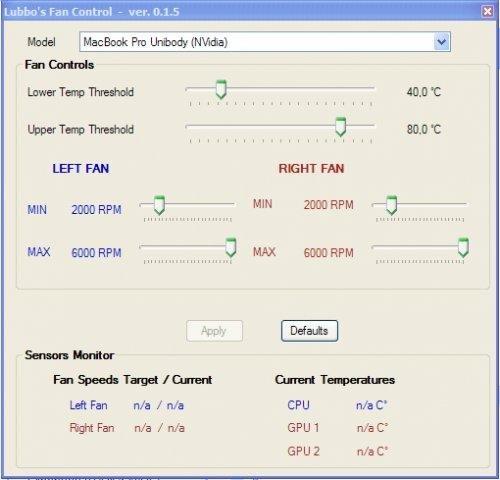 Lubbo's Fan Control screenshot