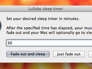 Lullaby's only screen. Simple and useful.