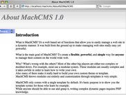 MachCMS 1.0 Introduction Page