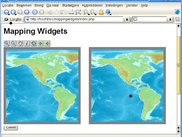 MappingWidgets with two maps and basic button functionality.