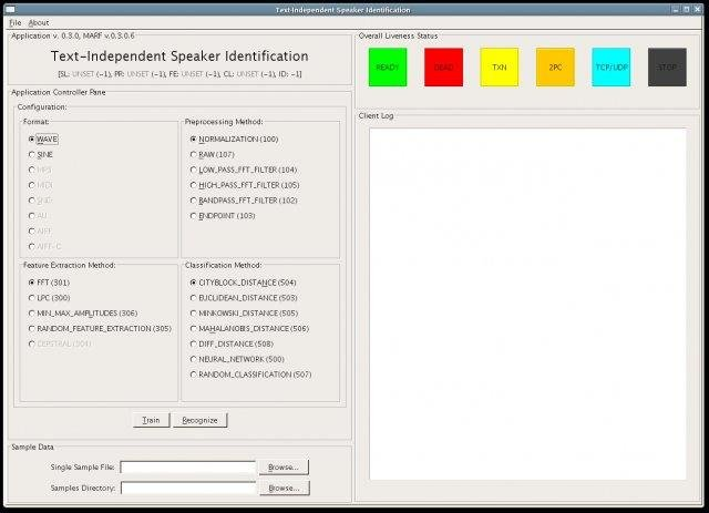 SpeakerIdent Prototype GUI