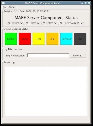 Server Status GUI Prototype