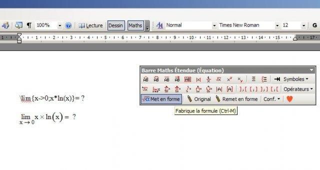 Equation Editor Ms Word