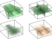 Examples of plots for 3d data array (here beam diffraction).