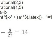 Create a linear equation