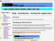MBLogic - Example of an on-line help page
