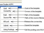 Template with Context Menu