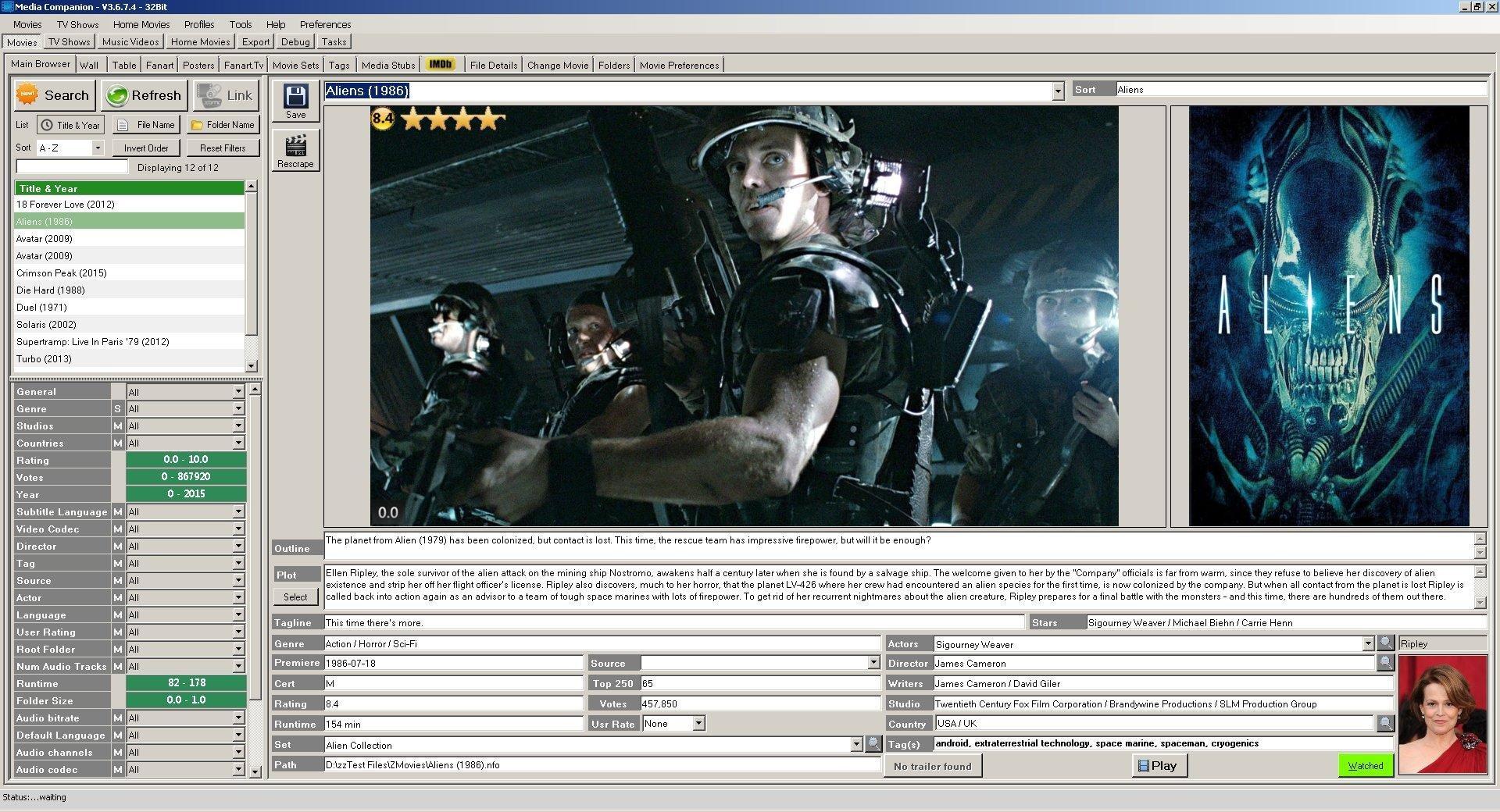 Full Media Companion screenshot
